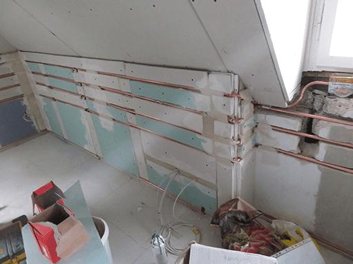 Wandtemperierung Dachgeschoss (Symbolbild)